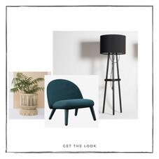 Sillón Lounge - Lámpara de piso - Maceta