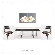 Mesa de comedor - Silla de Comedor - Lámpara de techo