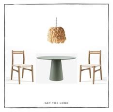 Silla de Comedor - Mesa de Comedor - Lámpara de Techo