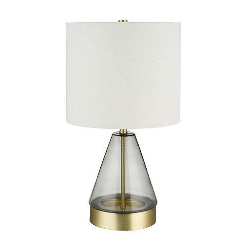 Lámpara de mesa Grey Glass