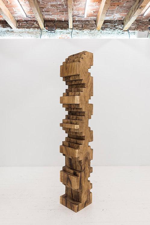Escultura Totem Column Wood