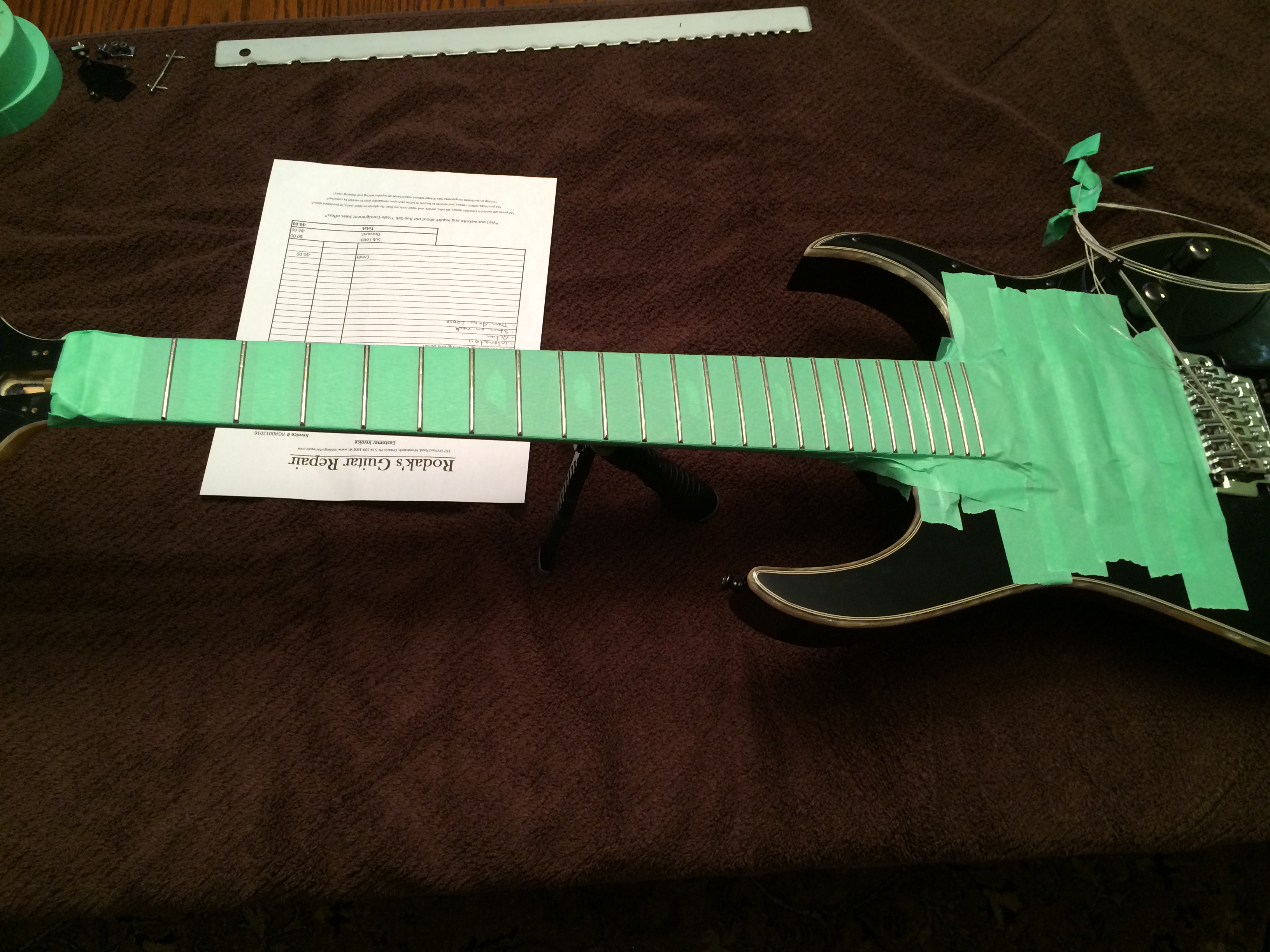 Full Fret Dress 7 String Ibanez