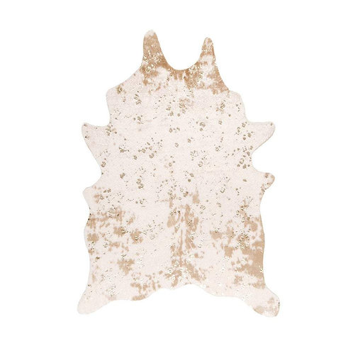 Tapete Off-White Faux Cowhide