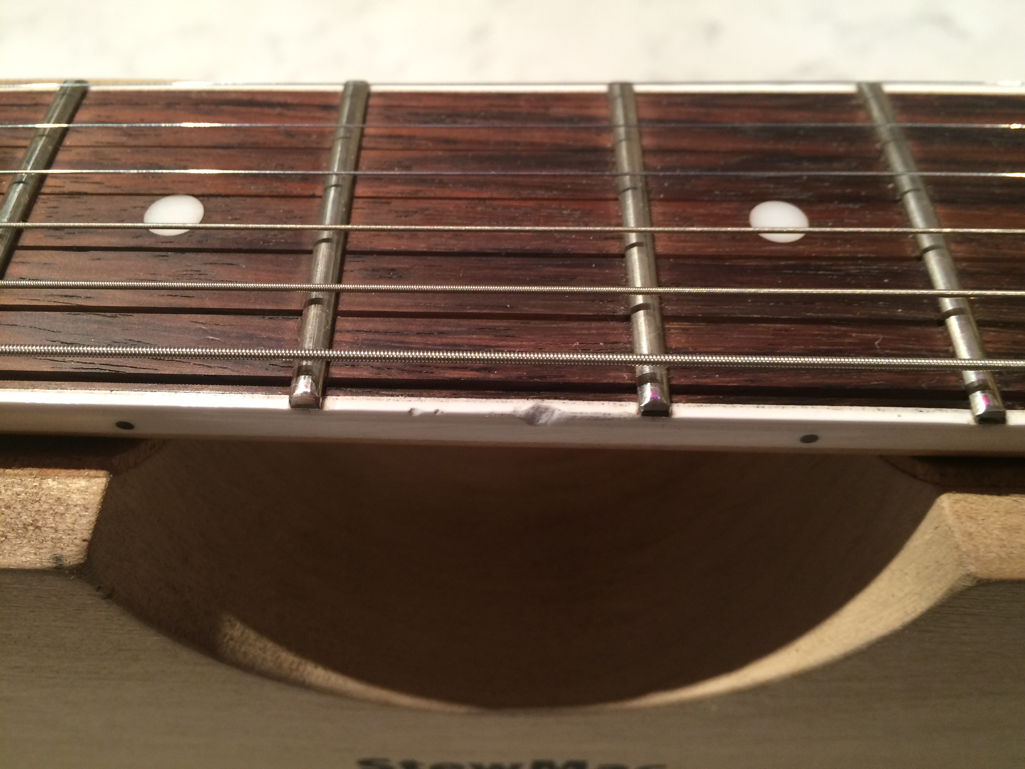Fret Board Binding Damage