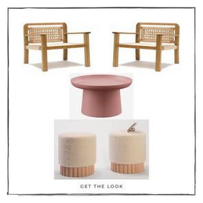 Sillón Lounge - Mesa de centro - Banco bajo