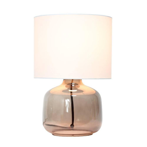 Lámpara de mesa Smoke White