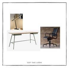 Escritorio - Lámpara de mesa - Silla de escritorio