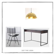 Escritorio - Silla de escritorio - Lámpara de techo