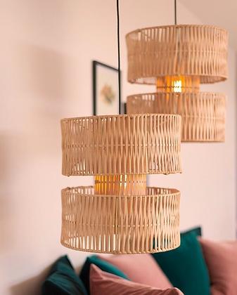 Lámpara de techo Emilio Rattan