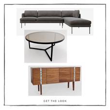 Sofá - Mesa de centro - Mueble de TV