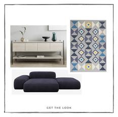 Sofá - Mueble de TV - Tapete