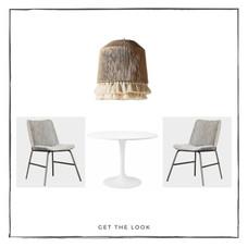 Mesa de comedor - Lámpara de techo - Silla de comedor
