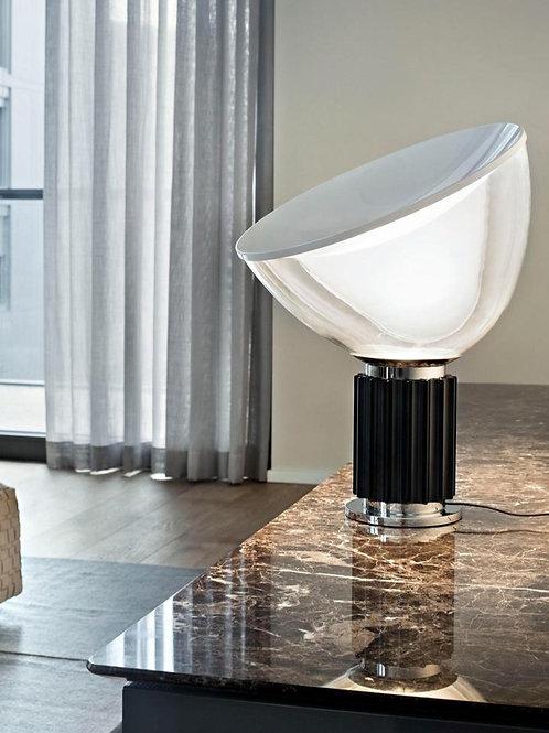 Lámpara de mesa Crate Plata Grande
