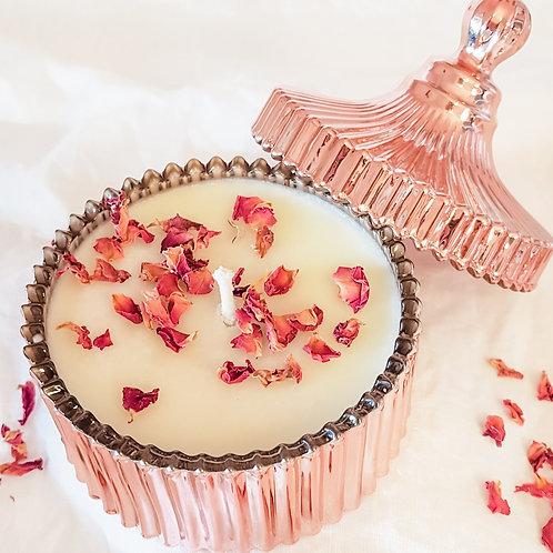 Botanical Wellness Candle | Rose Gold | Lid | 200ml