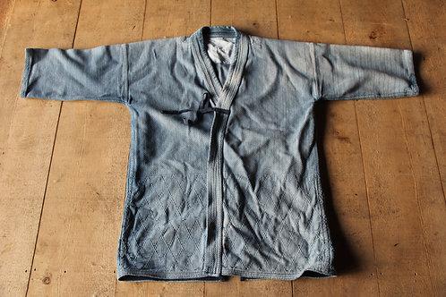 Vintage Japanese indigo dyed faded  large ken-do jacket