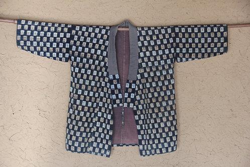 Vintage reversible Japanese indigo dyed Sho-nai sashiko noragi jacket