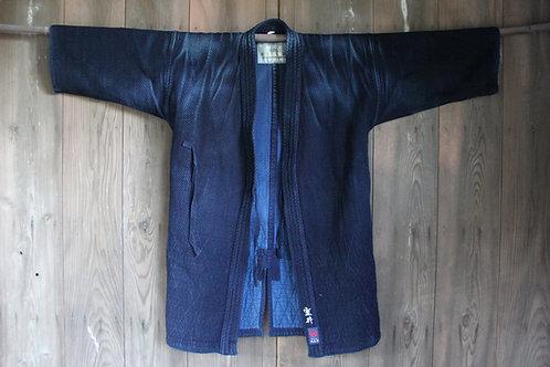Vintage Japanese Large indigo dyed ken-do jacket