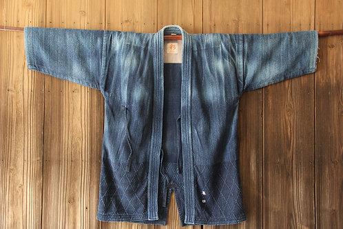 Vintage Japanese indigo dyed ken-do jacket Aya