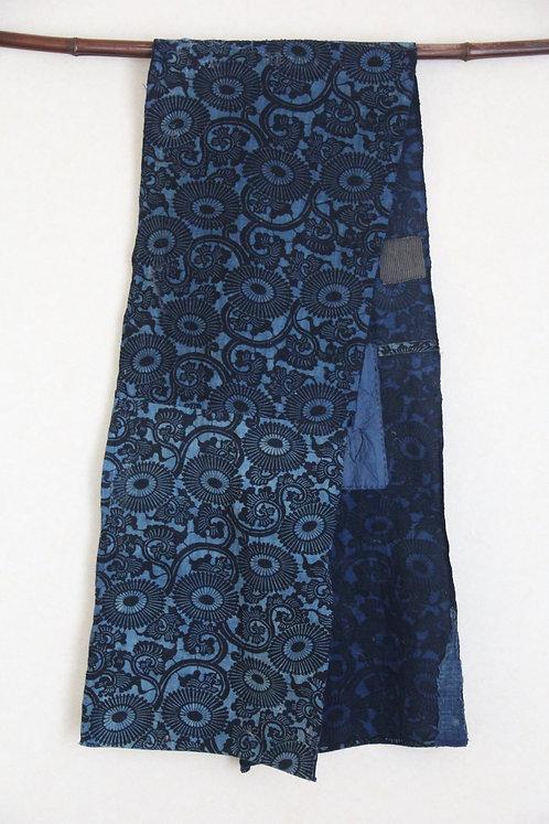 John's hold indigo katazome scarf