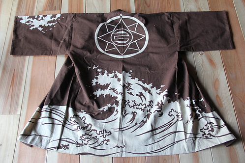 Vintage Japanese brown hanten jacket