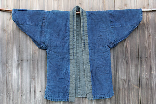 Vintage Japanese indigo dyed padding noragi jacket