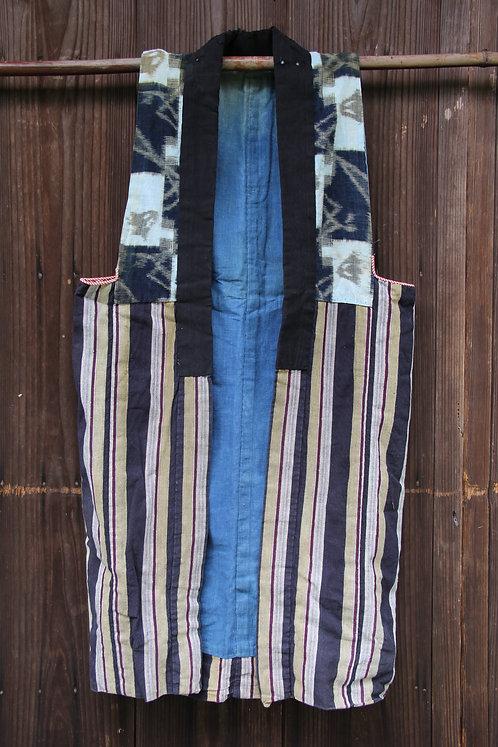 Vintage Japanese indigo sodenashi vest