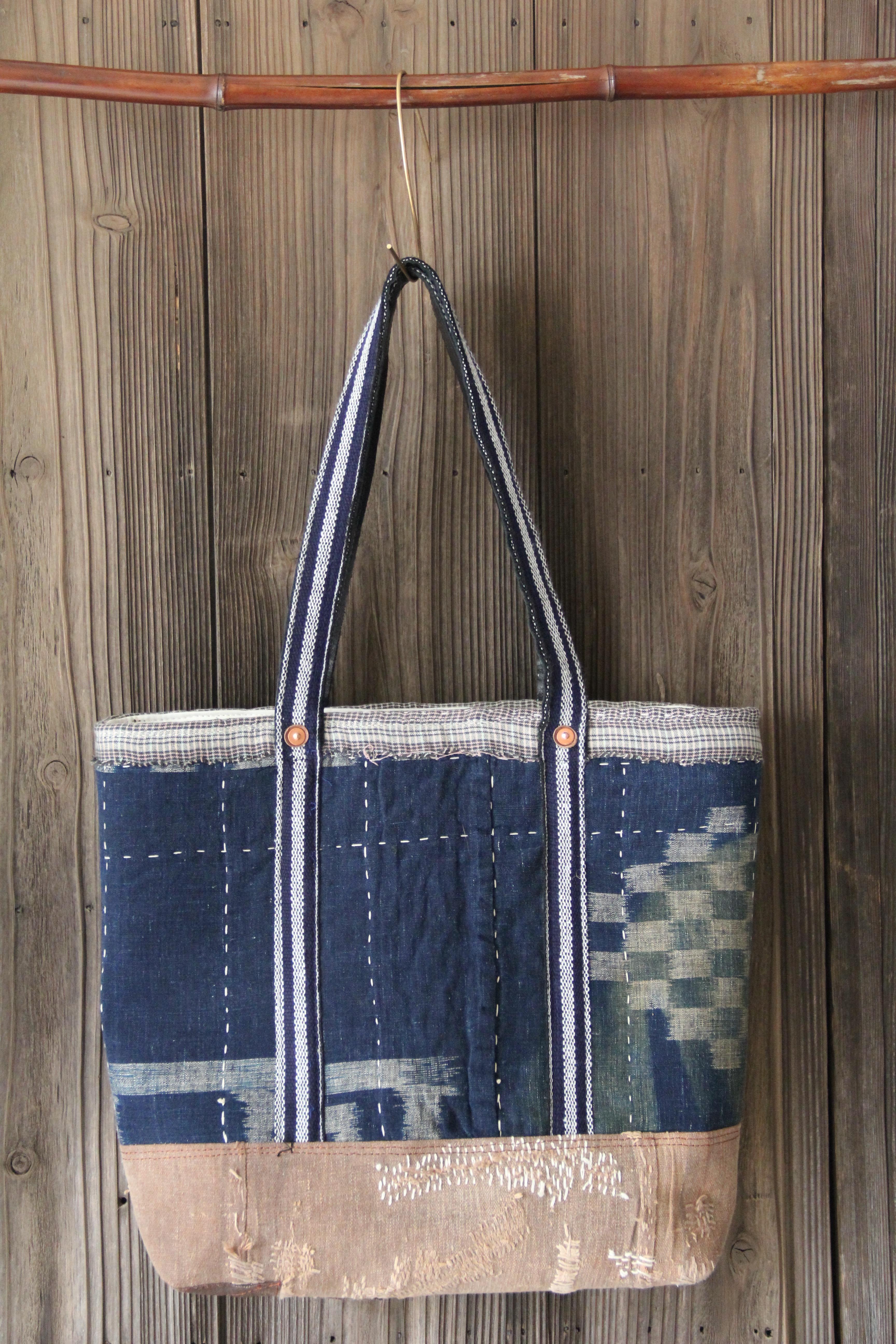japanese indigo boro bag