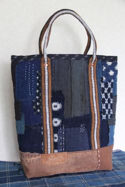 Japanese indigo boro tote bag
