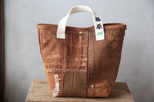Vintage Japanese sashiko stitched sakabukuro boro bag