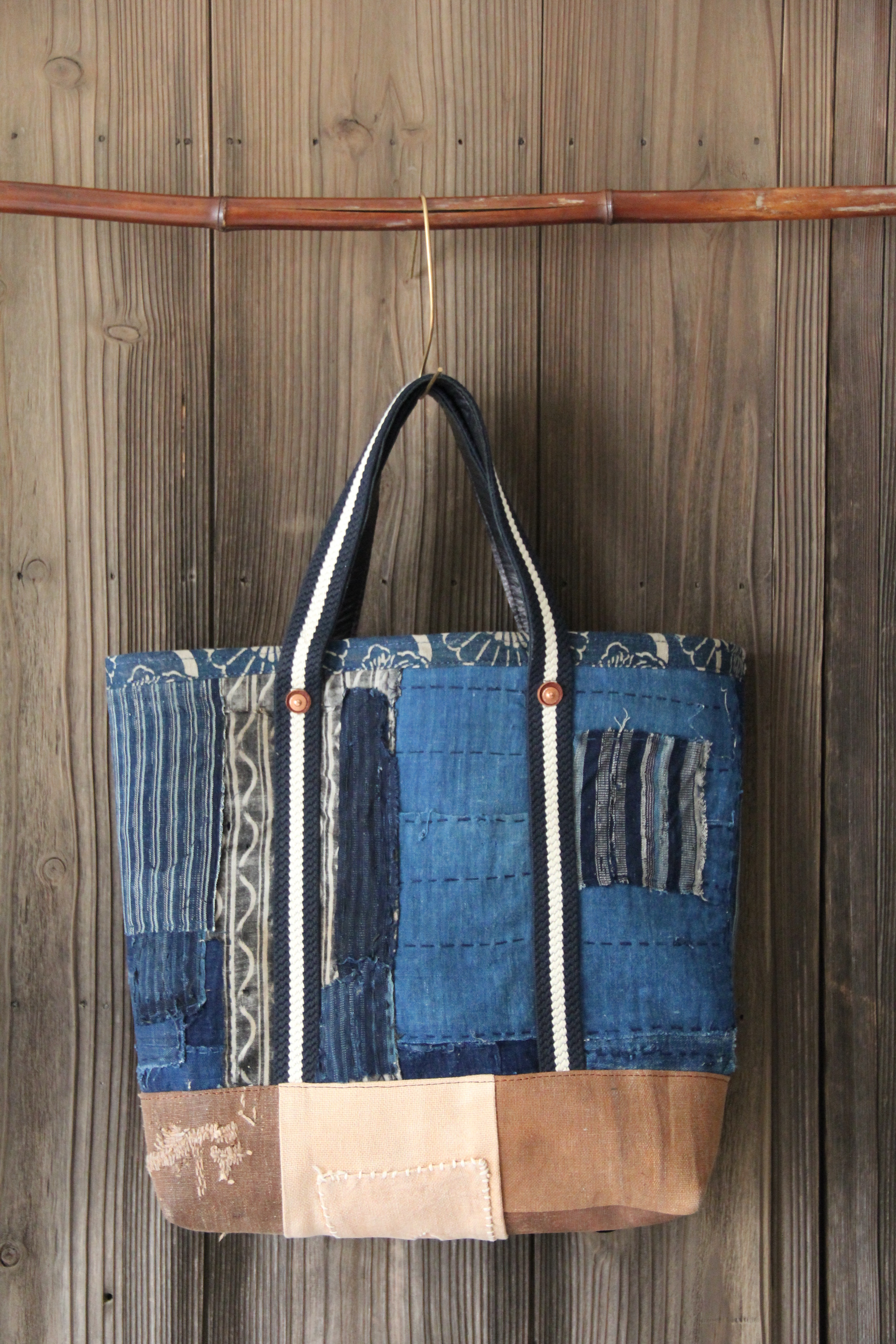 japanese indigo  sakabukuro boro bag