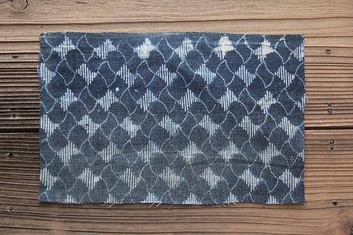 Vintage Japanese indigo dyed katazome fragment