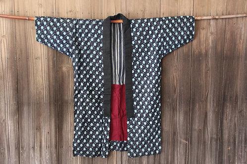Vintage indigo kasuri hanten noragi jacket