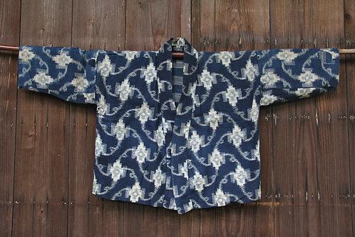 Vintage Japanese sashiko stitched kasuri jacket