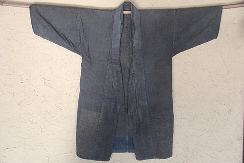 Vintage Japanese reversible indigo noragi boro jacket