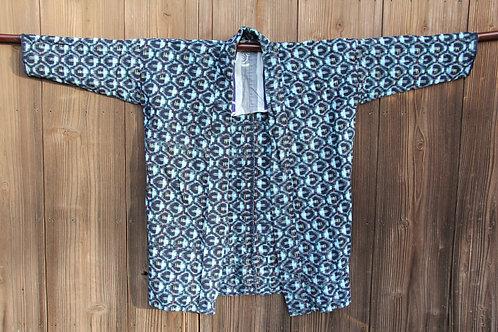 Vintage Japanese indigo dyed kasuri jacket