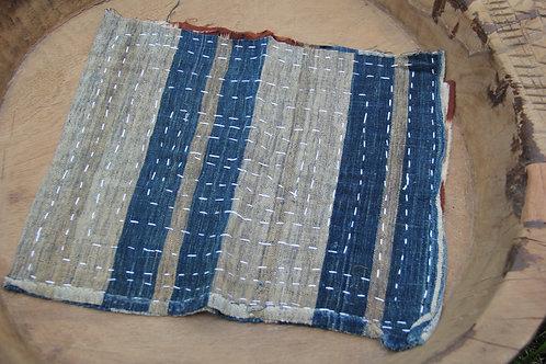 Japanese sashiko stitched indigo zokin dust rags