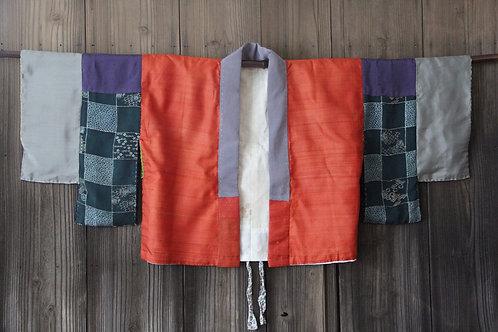 Vintage silk  patchwork juban kimono jacket