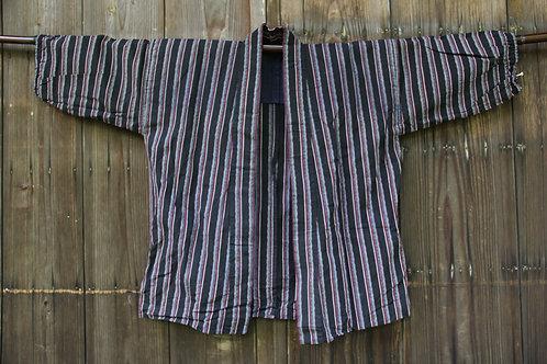 Vintage stripe indigo kasuri hanten jacket