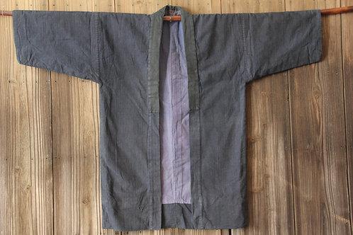Vintage japanese indigo stripe kasuri hanten  jacket