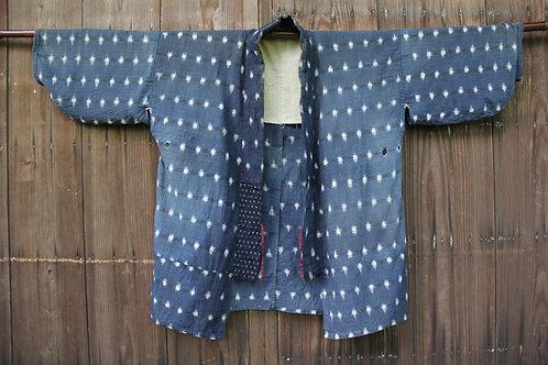 Vintage sashiko stitched kasuri boro jacket