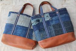 Japanese sashiko stitched BORO bags