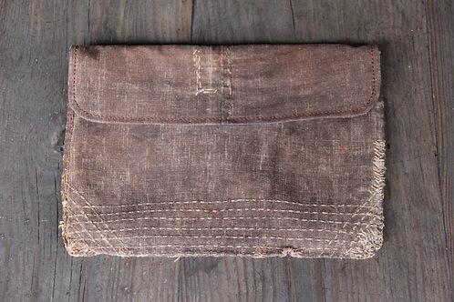 Sashiko stitched sakabukuro soft purse