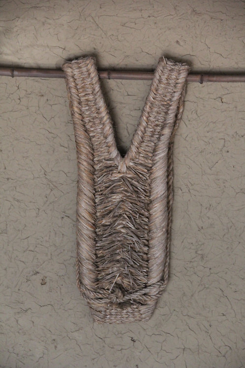 Vintage Japanese hand woven straw back pad