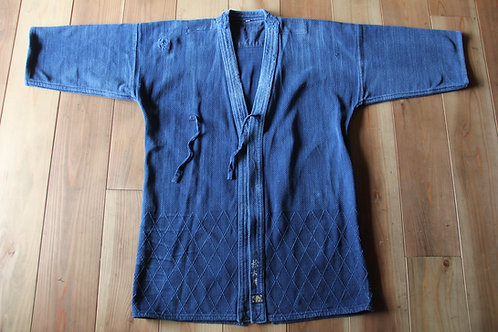 Vintage Japanese indigo dyed ken-do jacket