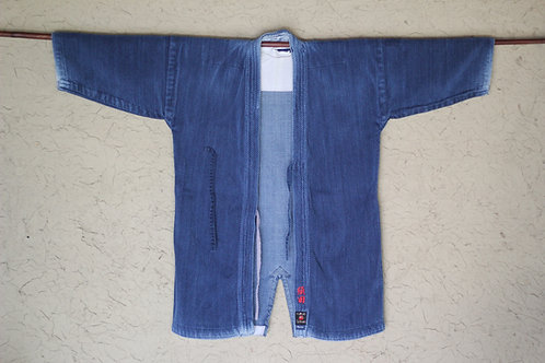 Vintage Japanese indigo dyed BORO ken-do jacket
