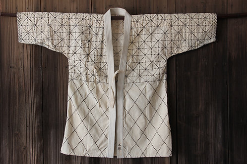 Vintage sashiko stitched ken-do uniform hanten jacket