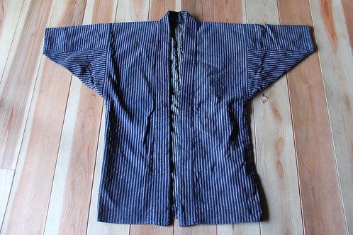 Vintage Japanese stripe indigo dyed  hanten jacket