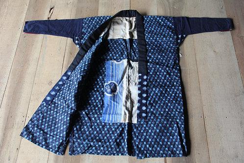 Vintage Japanese patch work indigo kasuri jacket