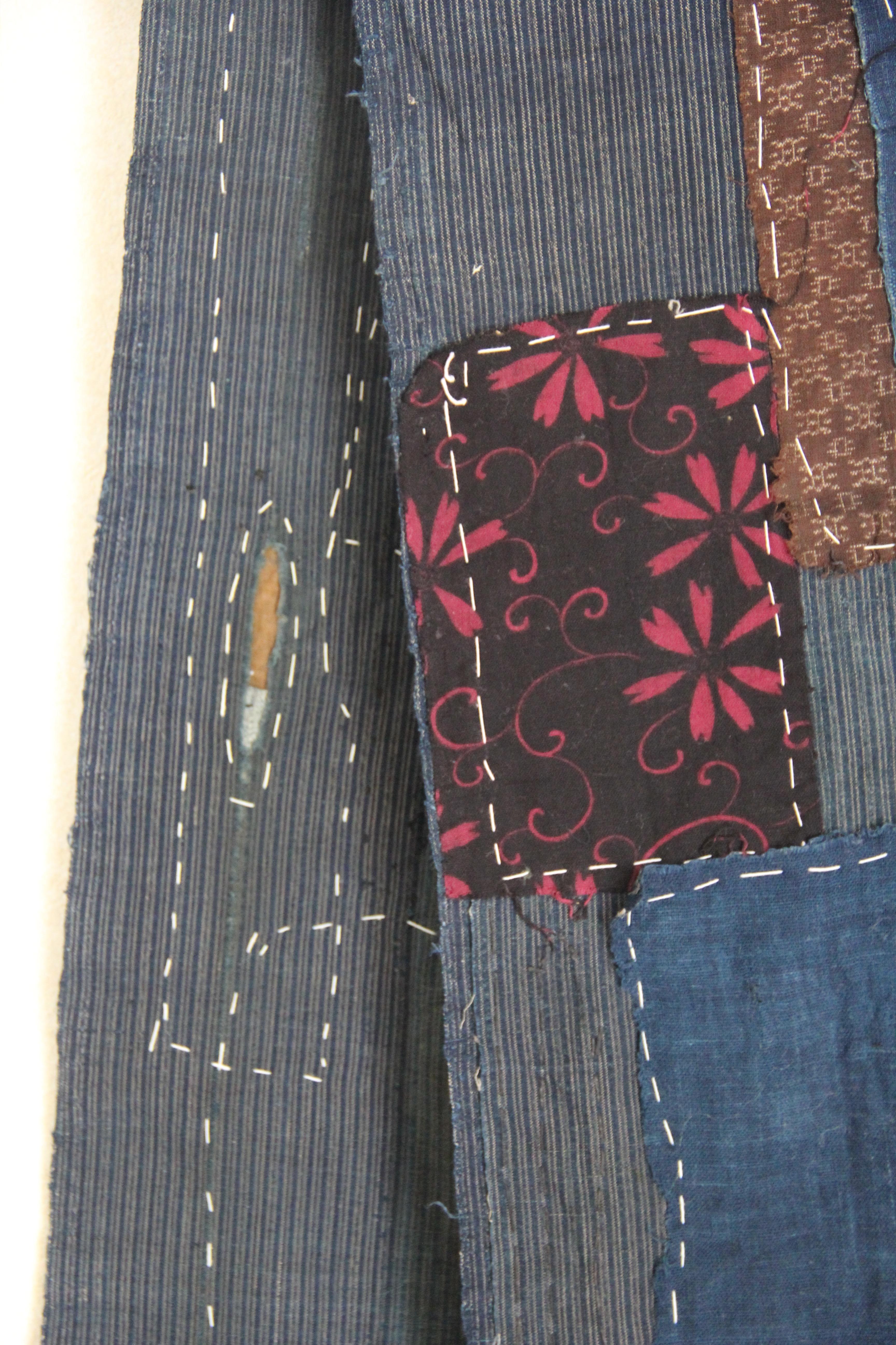 Japanese sashiko stitching detail