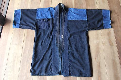 Vintage Japanese indigo dyed reversible fireman HIKESHI hanten jacket